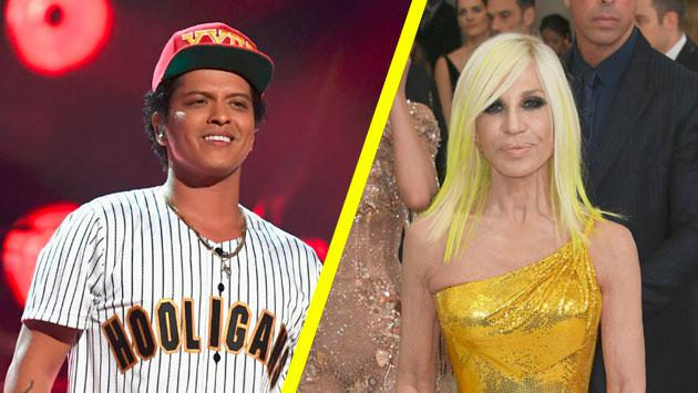 El homenaje a Bruno Mars por parte de la modista Donatella Versace [VIDEO]