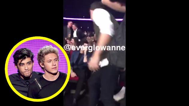 El incómodo reencuentro de Zayn Malik y Niall Horan en los AMA [VIDEO]