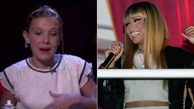 ¡'Eleven' de 'Stranger Things' imitó a Nicki Minaj! [VIDEO]