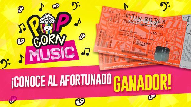 ¡Ella es la ganadora de una entrada doble para el concierto de Justin Bieber en Lima con 'Pop Corn Music'!