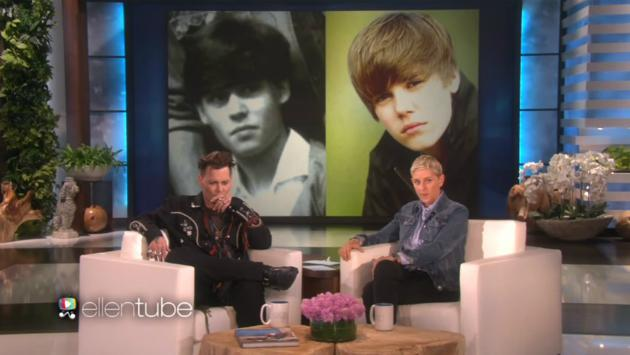 Ellen DeGeneres comparó a Johnny Depp con Justin Bieber y el actor reaccionó así [VIDEO]