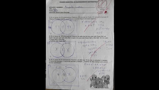 En colegio peruano, 'Pokémon GO' es el tema de un examen [FOTOS]
