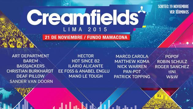 ¡Salieron los ganadores de entradas al Creamfields!