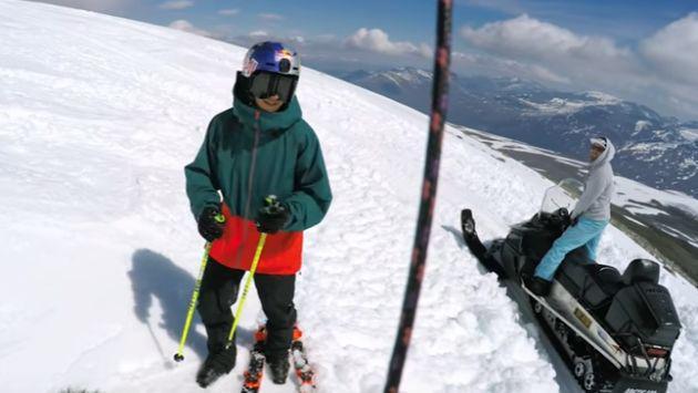 Él consiguió hacer lo que nunca antes ningún esquiador pudo [VIDEO]
