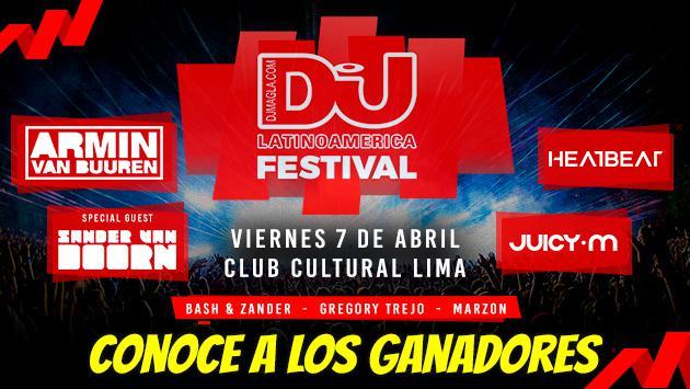 ¡Felicidades! Ellos son los ganadores de las entradas dobles para el DJ Mag Festival
