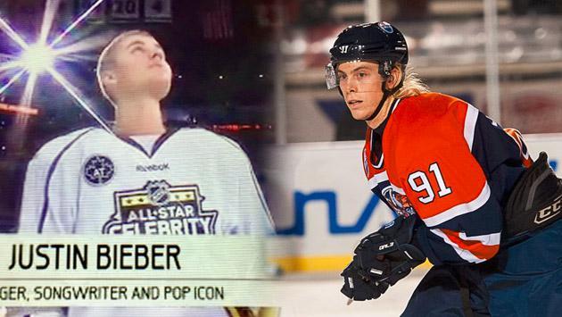 Fotos de lo que fue R5 vs. Justin Bieber en partido de hockey