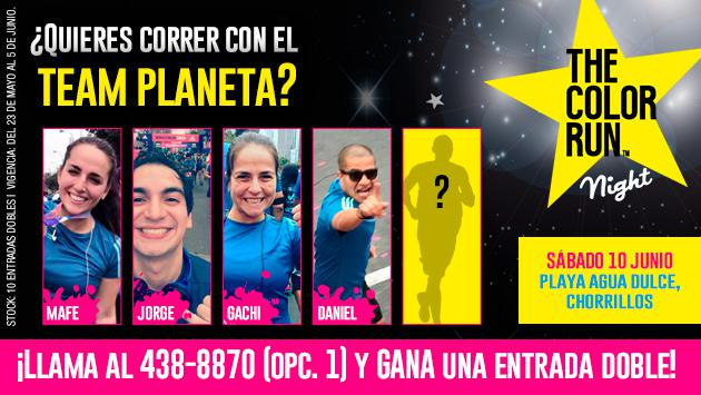 ¡Gana una entrada doble para correr con el Team Planeta en The Color Run Night!
