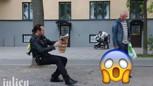 ¿Un hombre sentado en el aire? Mira este asombroso video
