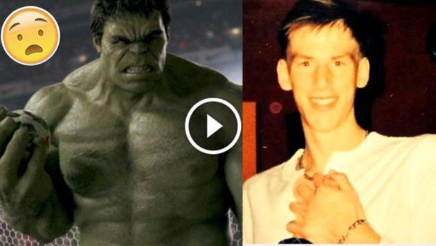 OMG! Su rutina en el gimnasio lo transformó en Hulk [FOTO+VIDEO]