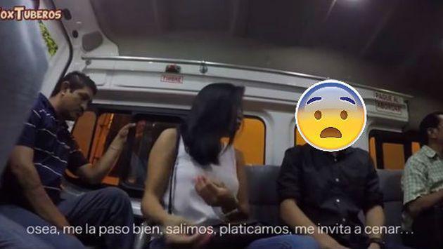 Confesó en un bus que le era infiel con su amigo y así reaccionaron los pasajeros [VIDEO]
