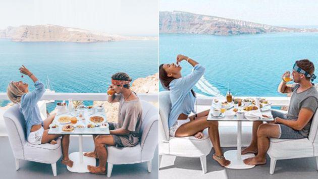 Descubrió que esta mujer la seguía por el mundo para imitar las fotos de su Instagram