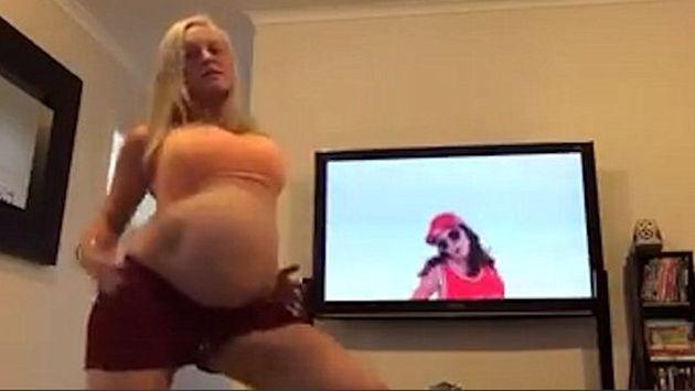 ¡Hace increíble coreografía de 'Sorry' de Justin Bieber antes de que se le rompiera la fuente! [VIDEO]