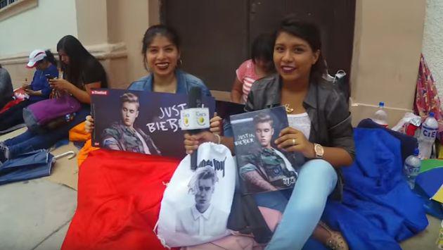 ¡Fans acampan afuera del Estadio Nacional para el concierto de Justin Bieber! [VIDEO]