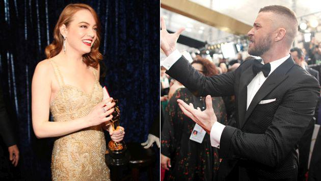 Oscar 2017: Justin Timberlake hizo el mejor 'photobomb' a costa de Emma  Stone [GIF]