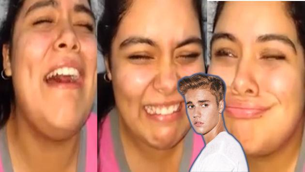 ¡Mira la reacción de esta fan de Justin Bieber al escucharlo cantar en castellano! [VIDEO]