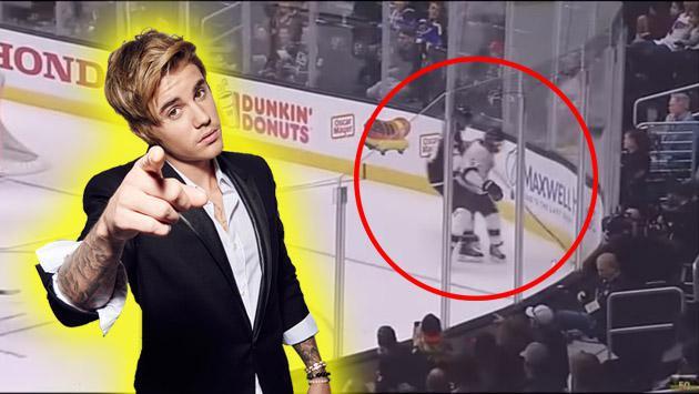 Justin Bieber jugó hockey con la NHL, pero a un doloroso precio [VIDEO]