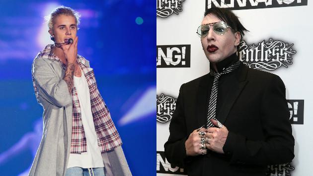 WTF!!! ¿Justin Bieber y Marilyn Manson intercambiaron camisetas?