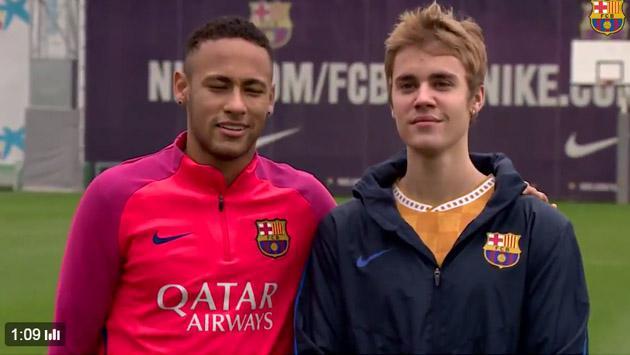 ¿Justin Bieber, nuevo jugador del FC Barcelona? [FOTOS Y VIDEO]