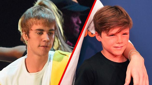 ¿Justin Bieber, temeroso de que Cruz Beckham lo 'serruche'?