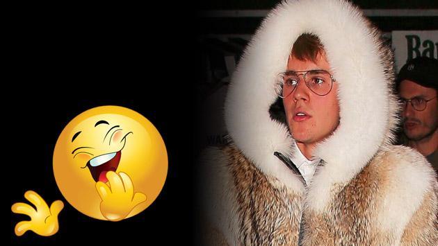 Justin Bieber y su descomunal abrigo generan memes y bromas