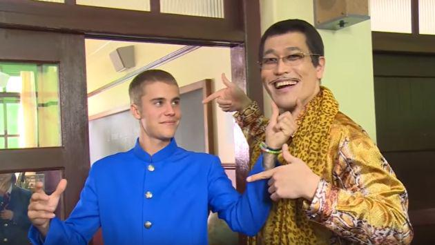 ¿Justin Bieber y Piko-taro preparan una versión de 'Pen Pineapple Apple Pen'? [FOTO + VIDEO]