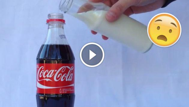 ¡Esto es lo que le pasa a la gaseosa si le echas leche! [VIDEO]