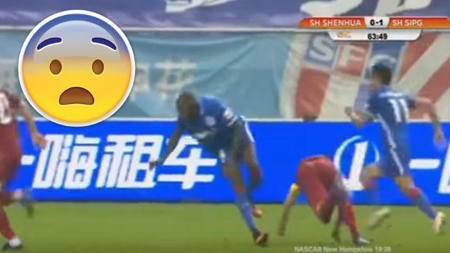 ¡Jugador francés sufrió terrible lesión en el fútbol de China! [VIDEO]