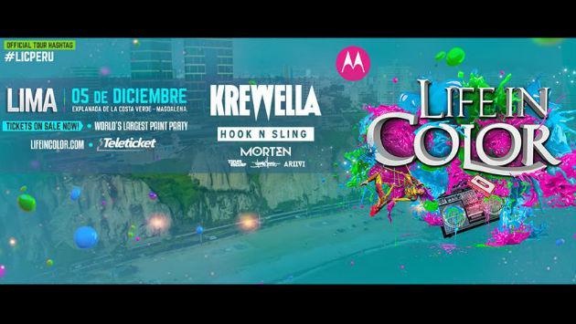 Life In Color Perú: ¡Todo sobre el concierto en la Costa Verde!