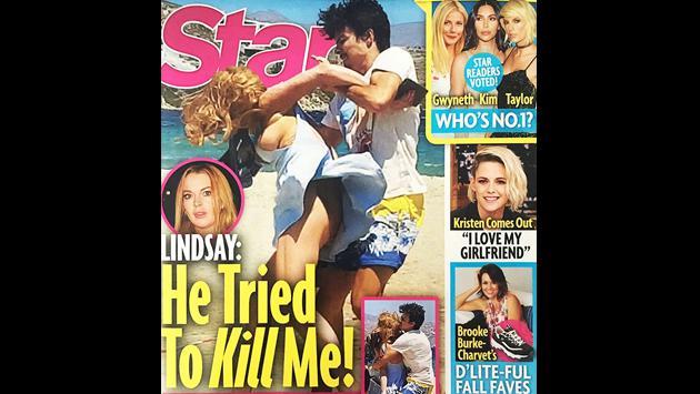 Lindsay Lohan, brutalmente agredida por su prometido en la playa