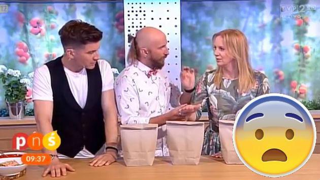 AUCH! Mago falló y le cortó la mano a una presentadora de TV en vivo (VIDEO)