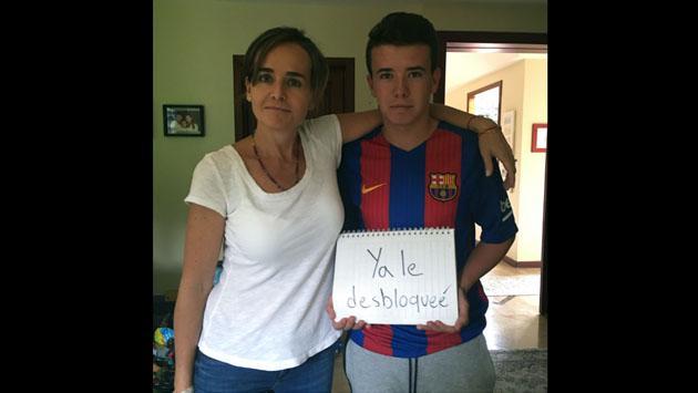 Ella inició esta campaña en Facebook. Y la respuesta de su hijo fue... [FOTOS]