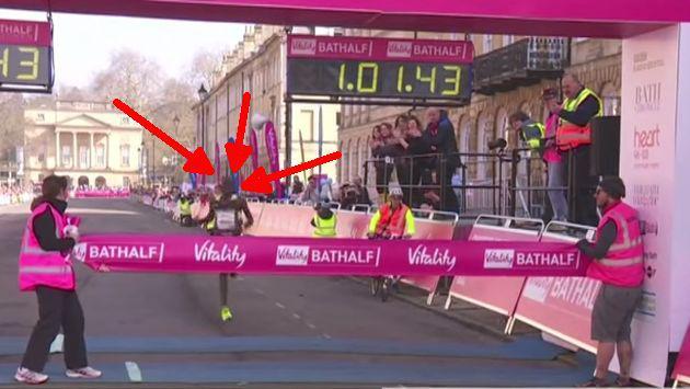 Atleta rompe récord en Media Maratón, pero al llegar a la meta... [VIDEO]