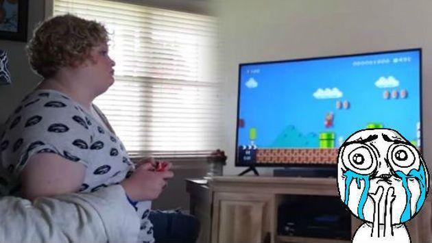 Ella jugaba 'Super Mario Bros.' sin saber la sorpresa que recibiría [VIDEO]