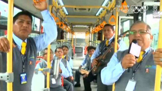 ¡Choferes del Metropolitano lanzaron su banda! [VIDEO]