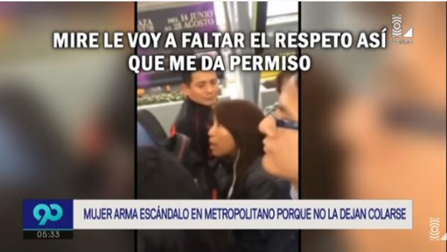 No la dejaron colarse en el Metropolitano y reaccionó de la peor manera (VIDEO)