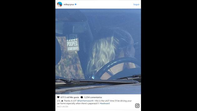 Miley Cyrus y la gran troleada que le hizo a Liam Hemsworth en Instagram [FOTOS]