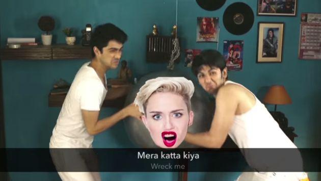 Estos chicos cantaron Wrecking Ball de Miley Cyrus en hindi y el resultado es demasiado genial (VIDEO)