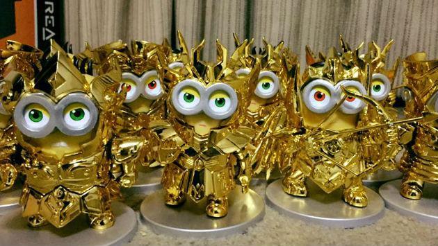 ¡Los minions mismos Caballeros del Zodiaco! ¿Te los comprarías?