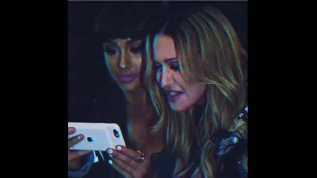 Mira a Ariana Grande aprendiendo pasos de baile con Madonna [VIDEO]