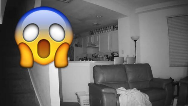 Colocó cámaras de seguridad en su casa por extraños ruidos sin pensar que... [VIDEO]