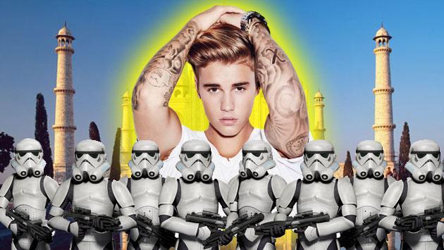 Ni te imaginas cuántos guardaespaldas tuvo Justin Bieber para su concierto en Bombay