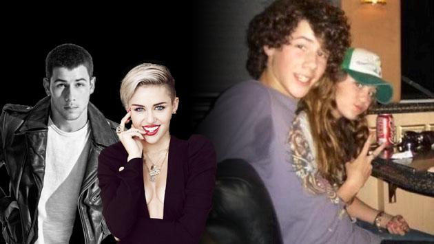 Nick Jonas 'viajó al pasado' con Miley Cyrus
