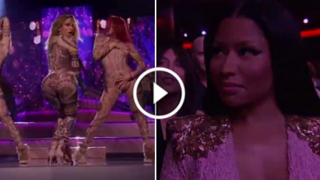 ¿A Nicki Minaj no le gustó la presentación de Jennifer López con 'Anaconda'? [VIDEO]