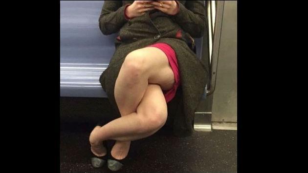 Esta foto de una mujer cruzando las piernas causó polémica... pero no por los motivos que crees