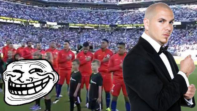 Chile fue trolleado mientras cantaba su himno en la 'Copa América Centenario'... ¿por Pitbull?