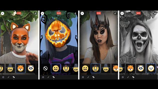 Por Halloween, Facebook se 'disfrazó' de Snapchat