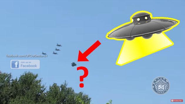 En YouTube, presunto ovni escoltado por aviones de guerra ha causado curiosidad [VIDEO]