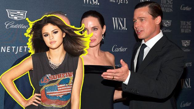 Pretenden vincular a Selena Gómez en divorcio de Brad Pitt y Angelina Jolie. Mira por qué