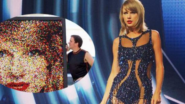 Retrato de Taylor Swift sorprende al mundo ¡Está hecho de chicles! [FOTO]