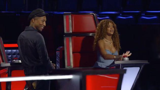 Rihanna y su divertida participación en 'The Voice'. ¡Tienes que verlo!